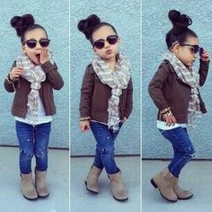 Ideas Baby Fashion Girl Outfits Future Daughter For 2019 Little Girl Outfits, Cute Outfits For Kids, Little Girl Fashion, Cute Little Girls, My Little Girl, My Baby Girl, Cute Kids, Toddler Fall Outfits Girl, Fashion Niños