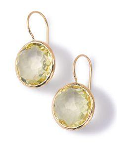 Y2M5J Ippolita 18k Gold Lollipop Drop Earrings