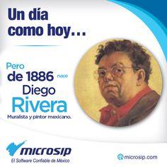 Un día como hoy 8 de diciembre pero de 1886 nace Diego Rivera, muralista y pintor mexicano.