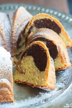 Moist and Tender Marble Cake A simply PERFECT recipe for the all-time classic cake! Super-moist with a tender crumb that slices like velvet. Marble Pound Cakes, Marble Cake Recipes, Marble Cake Recipe Moist, Cupcake Recipes, Chocolate Ganache Glaze, Chocolate Swirl, Chocolate Texture, Chocolate Cake, Cupcakes