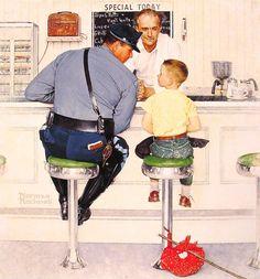 Norman Rockwell will always be my hero, my favorite artist. I love his work. #art #illustration