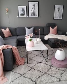 Cozy Small Living Room Decor Ideas For Your Apartment - Page 13 of 53 - Afsh. Cozy Small Living Room Decor Ideas For Your Apartment – Page 13 of 53 – Afshin Decor Pink Living Room, Living Room Inspiration, Living Room Decor Cozy, Pinterest Living Room, Living Room Decor Inspiration, Living Room Designs, Apartment Living Room, Room Decor, Apartment Decor