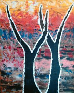 "Two Trees Oil on Canvas 20"" X 24"" Price - $475, or best offer."