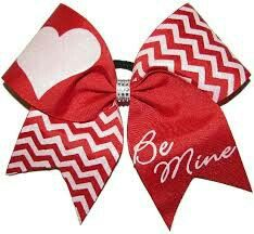 Valentine cheer bow