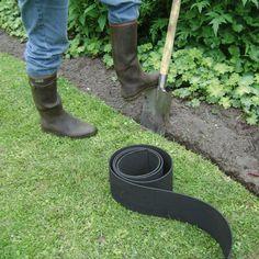 Gazonafboording kopen van rubber om gazon af te boorden