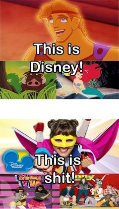TRUTH. Seriously shake it up is the best thing u can cum up with???? U R Disney!!! We know u can do better! For example the new Mickey Mouse shorts thts the Disney channel we know and L♡♡E.
