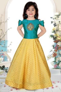Details about Kids Gown Ethnic Dress Indian Kids Salwar Kameez Suit Party Wear Fully Stitched Gowns For Girls, Frocks For Girls, Dresses Kids Girl, Kids Party Wear Dresses, Kids Dress Wear, Girls Frock Design, Kids Frocks Design, Kids Gown Design, Baby Dress Design