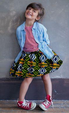 Stella Jean SS15 kids lookbook #girls #print #skirt