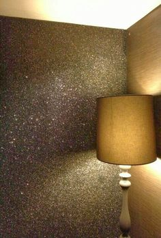 New wall paper accent wall entryway lamps 45 ideas Glitter Wallpaper Bedroom, Glitter Bedroom, Wallpaper Accent Wall Bathroom, Sparkle Wallpaper, Accent Wall Bedroom, Trendy Wallpaper, Accent Walls, Baby Wallpaper, Closet Wallpaper