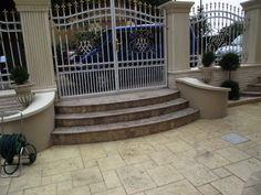 idei garduri marmura,granit si travertin GVB Stone Division Division, Patio, Stone, Outdoor Decor, Home Decor, Travertine, Rock, Decoration Home, Room Decor