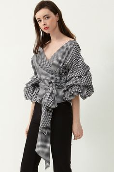 Vivian Ruched Sleeve Top Discover the latest fashion trends online at storets.com  #top #sleevetop #vivian