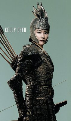 "Kelly Chen, ""An Empress and the Warriors"", 2008 #armor #archery"