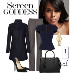 Olivia Pope Style by andrea-leiner on Polyvore featuring мода, Roland Mouret, FAY, MaxMara, Jimmy Choo, Prada, Movado and Nokia