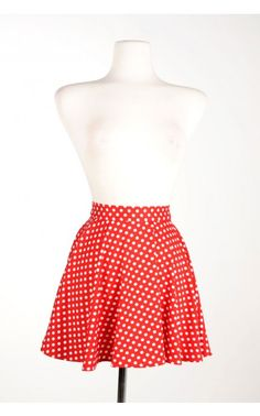 Pinup Couture - Swim Skirt in Red Polka Dot | Pinup Girl Clothing