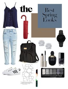"""Wishing of spring"" by heyybrookee ❤ liked on Polyvore featuring Sans Souci, adidas, Victoria's Secret, H&M, MANGO, CLUSE, Ilia, Alexander McQueen and Effy Jewelry"