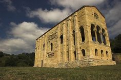 Santa María del Naranco -- The church of St Mary at Mount Naranco is a Roman Catholic Asturian pre-Romanesque Asturian architecture church on the slope of Mount Naranco situated 3km from Oviedo, northern...