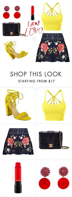 """Hmm very nice combination"" by hanija21 ❤ liked on Polyvore featuring Marc Fisher, LE3NO, Haute Hippie, Chanel and Marni"