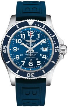 Breitling Watch Superocean II 44 #add-content #bezel-unidirectional #bracelet-strap-rubber #brand-breitling #case-depth-14-2mm #case-material-steel #case-width-44mm #cosc-yes #date-yes #delivery-timescale-call-us #dial-colour-blue #gender-mens #luxury #mo