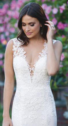 Vintage Lace Patterns A-line Wedding Dress