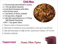 Tupperware Pressure Cooker Recipes, Microwave Pressure Cooker, Tupperware Recipes, Microwave Recipes, Pressure Cooking, Cooking Recipes, Cooking Ideas, Brownie Mix Recipes, Chili Seasoning Mix