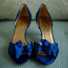 """Kate Spade Blue Evie Heels Looking for a comfortable evening or wedding shoe with pizazz? Kate Spade's Evie is a cute, low-heeled sandal made of beautiful cobalt blue silk satin. Heel measures 2.75"""". Worn once (at my wedding) - in near perfect condition with very minimal signs of wear (most wear is on sole as pictured). Comes with box and bag. I am open to reasonable offers. (First two photos via MQ photography) kate spade Shoes Heels"""