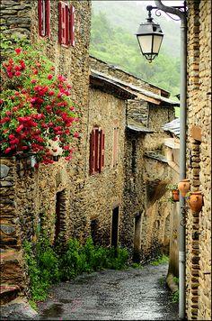 Whimsical Raindrop Cottage, bluepueblo: Medieval, Évol, France photo via...