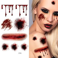 Supperb Temporary Tattoos  Bleeding Wound Scar Halloween Halloween Tattoos * Find out more about the great product at the image link. Note:It is Affiliate Link to Amazon.