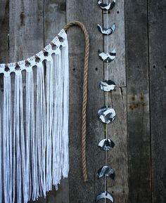 Phases of the Moon Wall Hanging | Bright White Macrame Wall Hanging