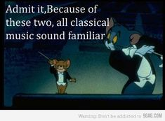 classical music viz Tom and Jerry Tom And Jerry Funny, Funny Tom, Hilarious, Tom And Jerry Quotes, Funny Memes, Music Humor, Music Jokes, Music Lessons, Classical Music