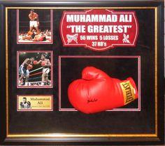 Muhammad Ali Signed Boxing Glove - Antiquities