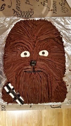 chewbacca birthday cake birthday cake pinterest chewbacca