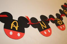 MIckey Mouse Banner Mickey garland Mickey mouse by PoshMyParty, $23.00