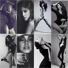 Moodboard studio bodysuit black and white photography
