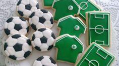 Biscoitos decorados futebol by Vanilla Art Cookies