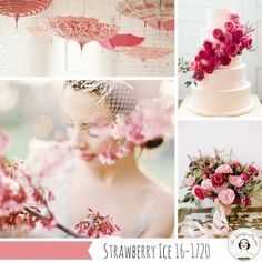 Strawberry Ice Pink Wedding Inspiration  Top 10 Wedding Colours for Spring 2015 from Pantone – Part II
