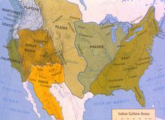 NATIVE AMERICAN CULTURAL REGIONS MAP North America By - Us native american map