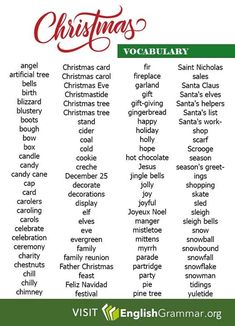 English Grammar - Merry Christmas everyone!