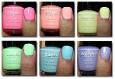Claire's Pastel Nail Polish by noriceplease, love the pastel colors!!!