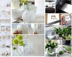 12 diy para crear jarrones con elementos reciclados