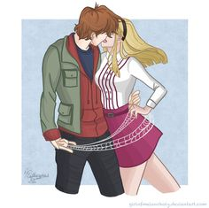 Peter x Gwen by ParadoxParade on deviantART