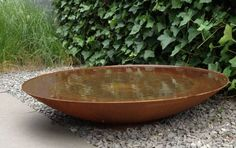 The stylish water bowl will add a focal point adding design to your garden and engage in the wildlife.. #waterbowls #gardendesign #waterfeature