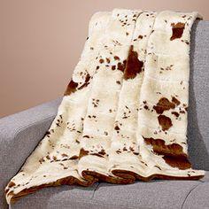 Faux Fur Throw, Cow Print SKU #431829 $59.99 WORLD MARKET