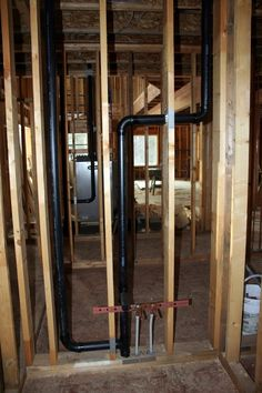 bathroom sink pex water lines & drain / vent pipes (photo)