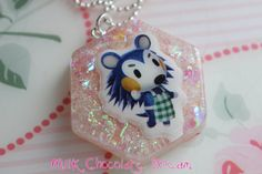 Animal Crossing Mabel Resin Necklace by MilkChocolateDream on Etsy, $9.00