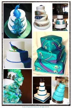 peacock wedding cakes!