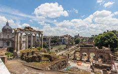 Blick vom Kapitolhügel über das Forum Romanum