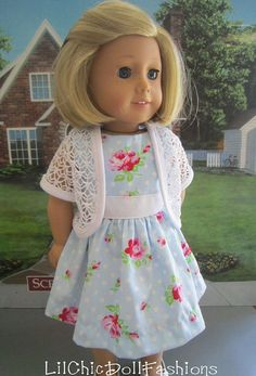 American Girl doll clothes sleeveless dress by LilChicDollFashions,