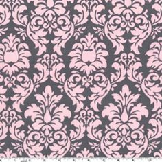 Michael Miller House Designer - Its a Girl Thing - Dandy Damask in Bloom