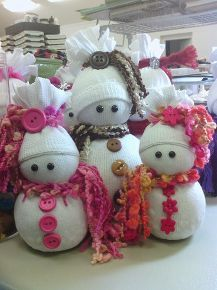 sock snowmen or snow babies as i like to call them, crafts, seasonal holiday decor, I have recently started making them without noses