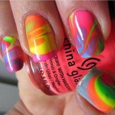 summer nail designs | Color Block Summer Nail Designs 2013